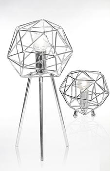 Diamant bordlampe - Krom