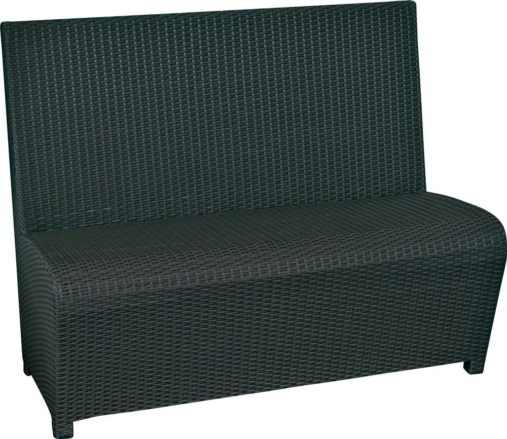 polyrattan 2 personers sofa smart. Black Bedroom Furniture Sets. Home Design Ideas